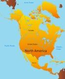 Kaart van Noord-Amerika Royalty-vrije Stock Afbeeldingen