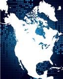 Kaart van Noord-Amerika Stock Fotografie