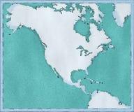Kaart van Noord-Amerika, getrokken geïllustreerde borstelslagen, geografische kaart, fysica Cartografie, geografische atlas royalty-vrije illustratie
