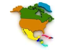 Kaart van noordelijk Amerika Royalty-vrije Stock Afbeelding