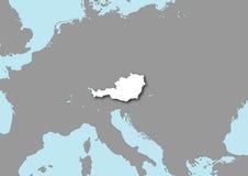 Kaart van Oostenrijk Stock Afbeelding
