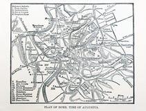 Kaart van oud Rome Royalty-vrije Stock Foto