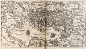 Kaart van oude bijbel Royalty-vrije Stock Afbeelding