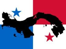 Kaart van Panama vector illustratie