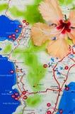 Kaart van Phuket Thailand Stock Foto