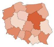 Kaart van Polen Royalty-vrije Stock Foto