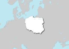 Kaart van Polen Stock Afbeeldingen
