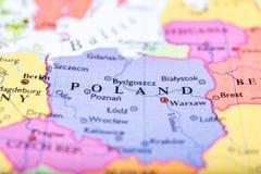 Kaart van Polen Royalty-vrije Stock Foto's