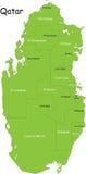 Kaart van Qatar royalty-vrije illustratie