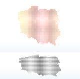 Kaart van Republiek Polen met Dot Pattern Royalty-vrije Stock Fotografie