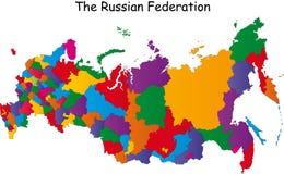 Kaart van Rusland Stock Afbeeldingen
