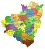 Kaart van Samara Region van de Russische Federatie Royalty-vrije Stock Foto