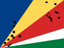 Kaart van Seychellen Stock Foto's