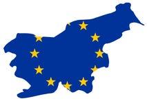 Kaart van Slovenië royalty-vrije illustratie