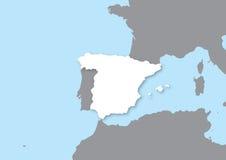 Kaart van Spanje Royalty-vrije Stock Foto
