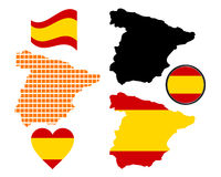 Kaart van Spanje stock foto