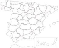 Kaart van Spanje Royalty-vrije Stock Foto's