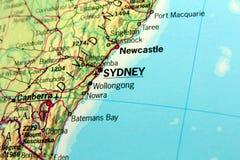 Kaart van Sydney Stock Afbeeldingen