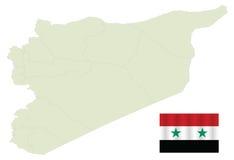 Kaart van Syrië Royalty-vrije Stock Afbeeldingen