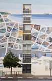 Kaart van Tel Aviv op Voorgevel Stock Afbeeldingen