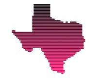 Kaart van Texas Royalty-vrije Stock Afbeeldingen
