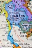 Kaart van Thailand stock afbeeldingen
