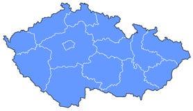 Kaart van Tsjechische Republiek Royalty-vrije Stock Foto's