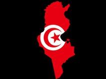 Kaart van Tunesië vector illustratie