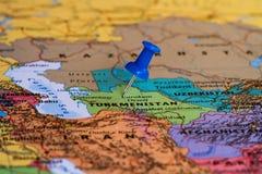 Kaart van Turkmenistan Royalty-vrije Stock Fotografie