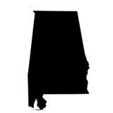 Kaart van U S staat Alabama Stock Fotografie