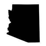 Kaart van U S staat Arizona Royalty-vrije Stock Foto
