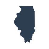 Kaart van U S Staat Illinois Royalty-vrije Stock Afbeelding
