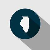 Kaart van U S Staat Illinois Royalty-vrije Stock Afbeeldingen