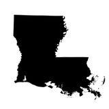 Kaart van U S staat Louisiane Royalty-vrije Stock Foto's