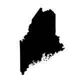 Kaart van U S Staat Maine Stock Afbeeldingen