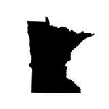 Kaart van U S staat Minnesota stock foto