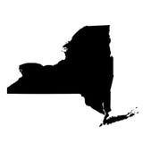 Kaart van U S staat New York Royalty-vrije Stock Afbeelding