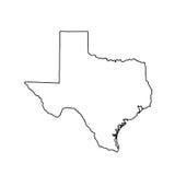 Kaart van U S Staat van Texas Stock Foto