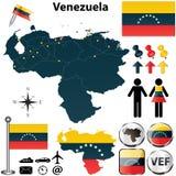 Kaart van Venezuela Stock Afbeeldingen