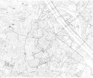 Kaart van Wenen, stadskaart, Oostenrijk europa vector illustratie