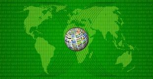 Kaart van wereld Stock Foto