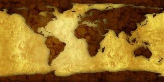 Kaart van wereld Royalty-vrije Stock Afbeeldingen