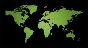 Kaart van Wereld Royalty-vrije Stock Foto