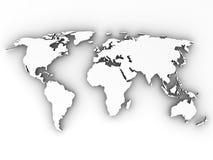 Kaart van Wereld Stock Fotografie