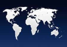 Kaart van wereld Stock Foto's