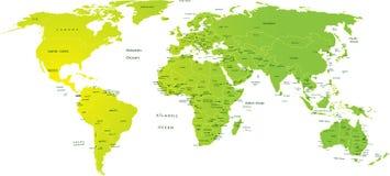 Kaart van wereld royalty-vrije illustratie