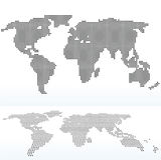 kaart van wereld met met Dot Pattern Stock Afbeeldingen