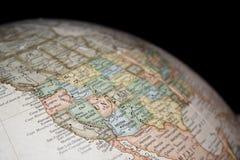 Kaart van westelijke Verenigde Staten Royalty-vrije Stock Foto