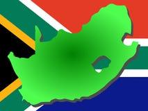 Kaart van Zuid-Afrika Stock Afbeelding
