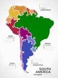 Kaart van Zuid-Amerika Royalty-vrije Stock Afbeelding